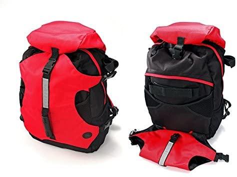 mochila de montaña roja